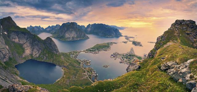 河流岛屿背景高清背景图片素材下载