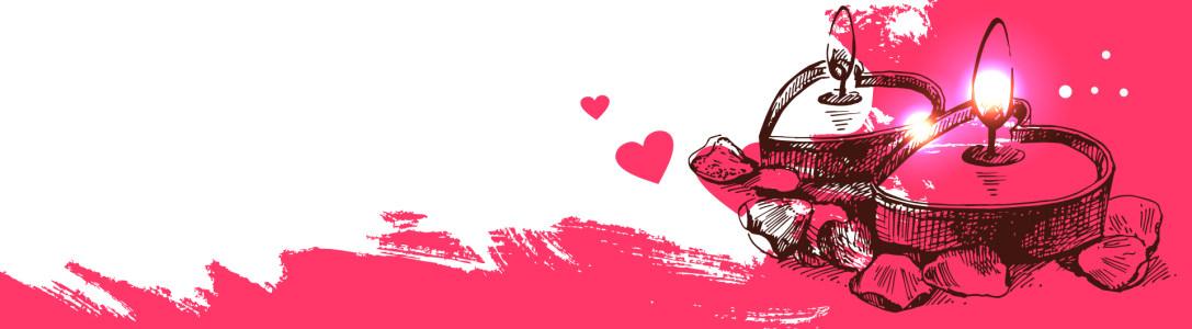 浪漫情人节红色手绘卡通背景