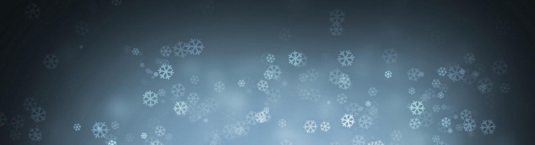 冬天雪花banner创意设计