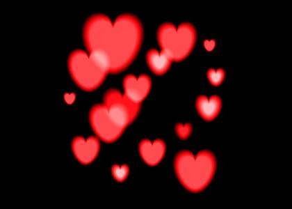 爱心溶图高光背景