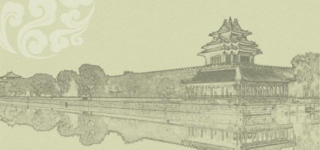 皇宫素描背景