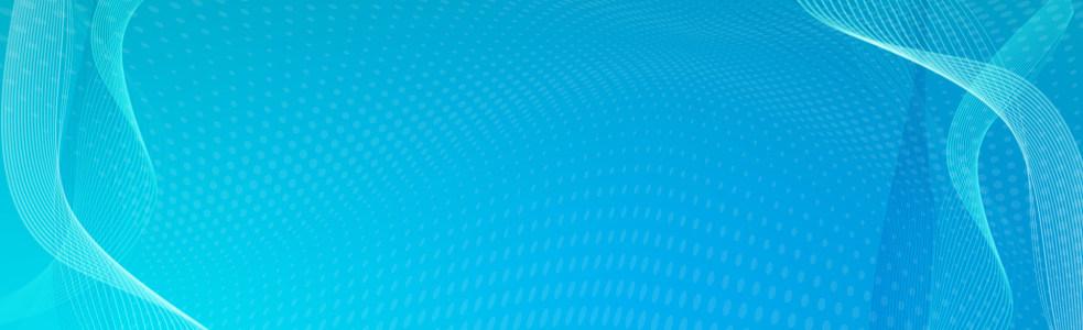 蓝色炫彩时尚banner设计