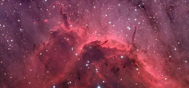 红色星空宇宙高清背景图片素材下载