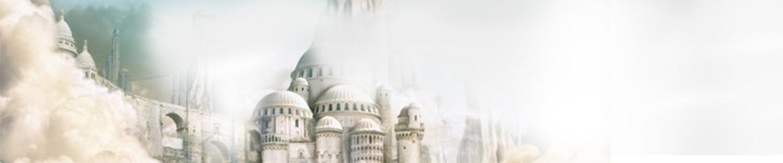 梦幻城堡banner创意设计高清背景图片素材下载