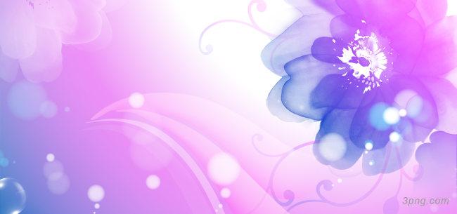 紫色手绘花朵背景背景高清大图-手绘背景底纹/肌理