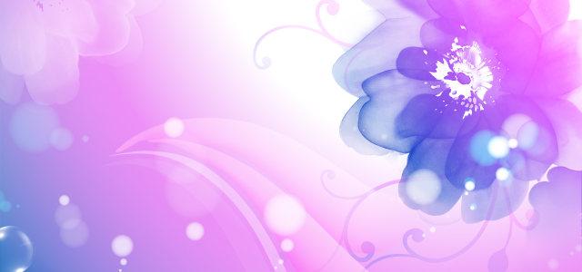 紫色手绘花朵背景