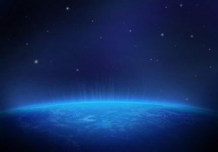 蓝色地球空间背景高清背景图片素材下载