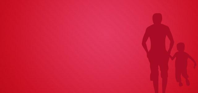 红色父爱背景