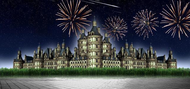 城堡建筑背景