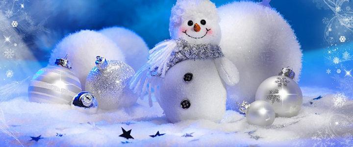 冬季 雪人 背景