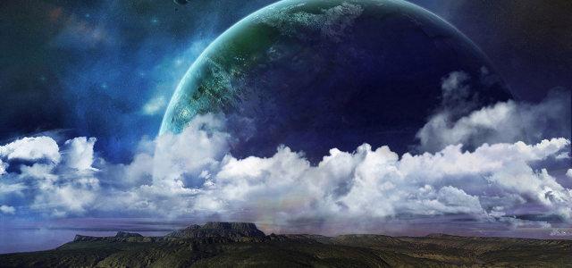 天空月亮白云背景