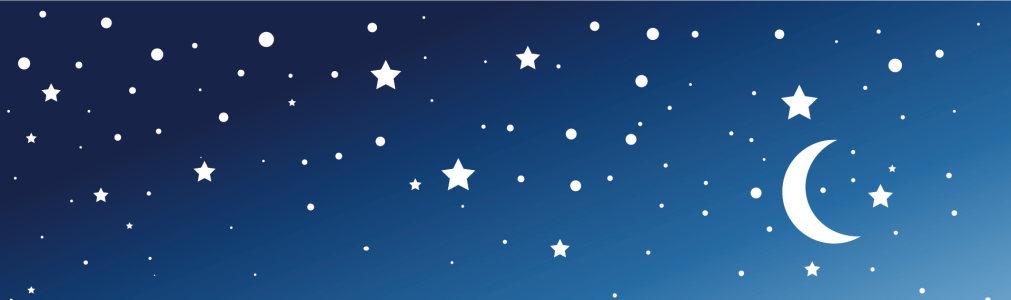 电商蓝色星星月亮背景banner