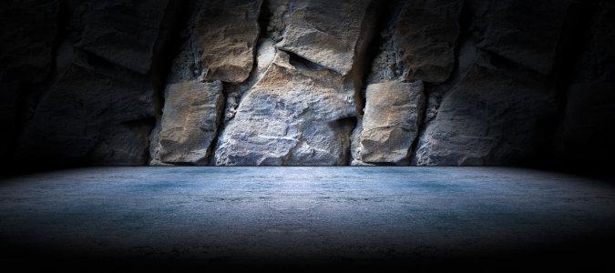黑暗石头墙面背景高清背景图片素材下载
