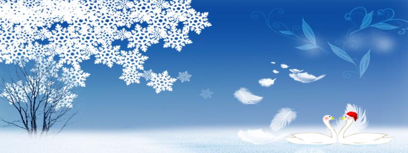 冬季唯美背景海报
