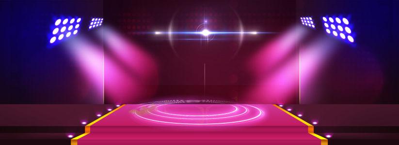 紫色舞台灯光背景