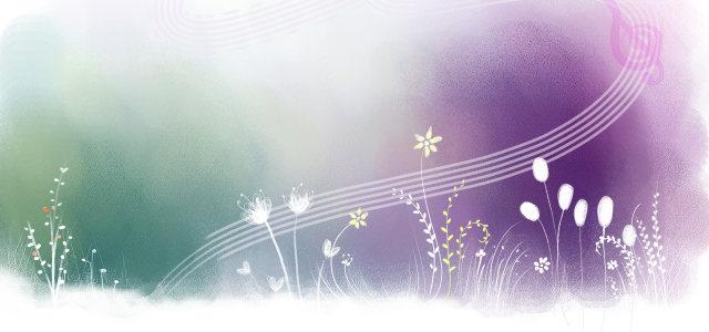 紫色花背景