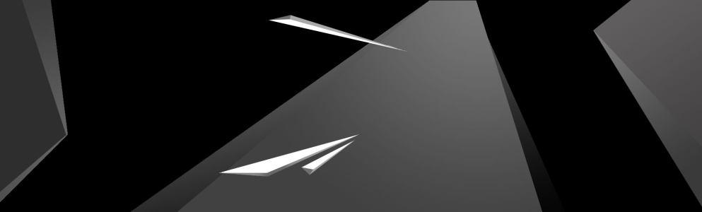 黑色立体几何背景banner高清背景图片素材下载