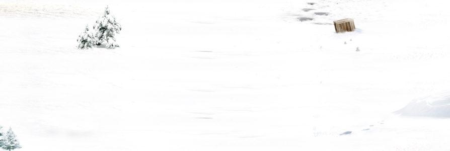 白色雪地背景banner高清背景图片素材下载