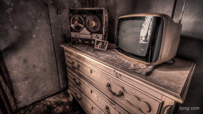 复古老电视背景背景高清大图-古老背景木纹/纸张/复古