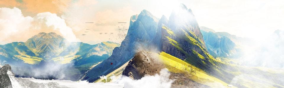 大山背景高清背景图片素材下载