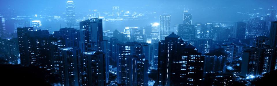 蓝色深邃夜景海报背景