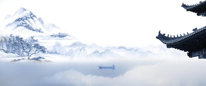 中国风水墨山水背景高清背景图片素材下载