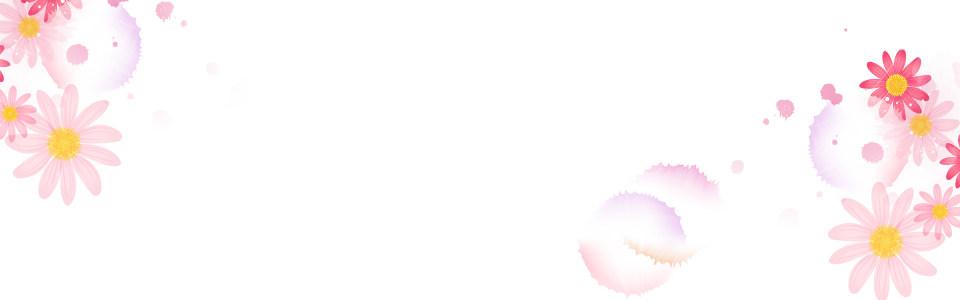 简约手绘雏菊清新海报背景