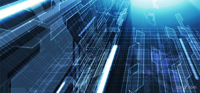 蓝色科技背景背景高清大图-背景背景科技/商务