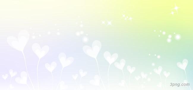 白色心形卡通背景背景高清大图-心形背景卡通/手绘/水彩