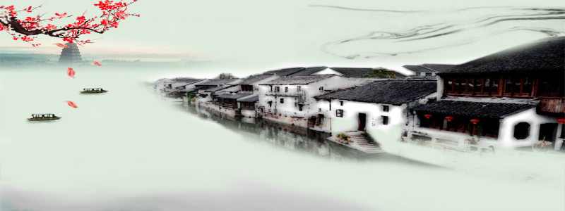 水墨江南背景