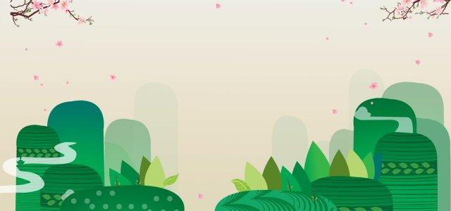 梅花卡通山浅褐色背景图