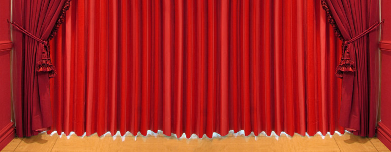 红色背景古典红幕布banner展板高清背景图片素材下载
