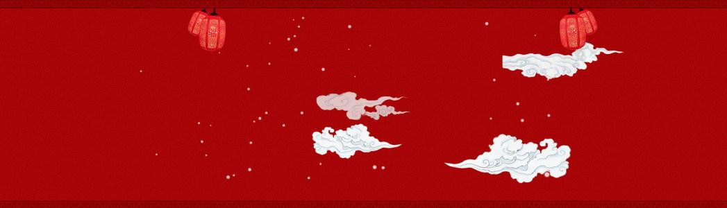 中国红淘宝背景图