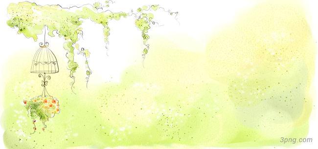 手绘小清新背景背景高清大图-手绘背景自然/风光