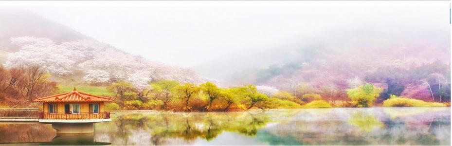 秋季风景背景海报