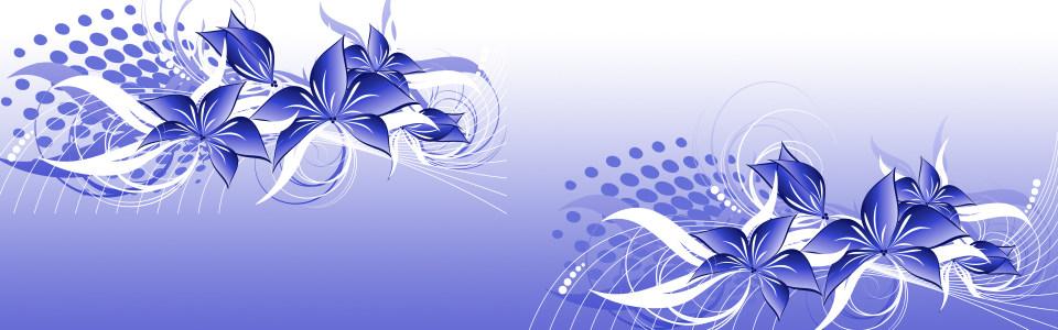 手绘紫色花朵蝴蝶海报背景