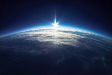 地球地平线背景