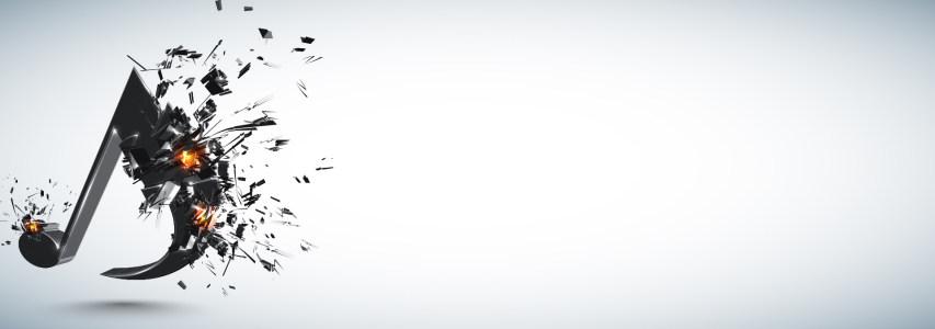 爆裂音符灰色背景