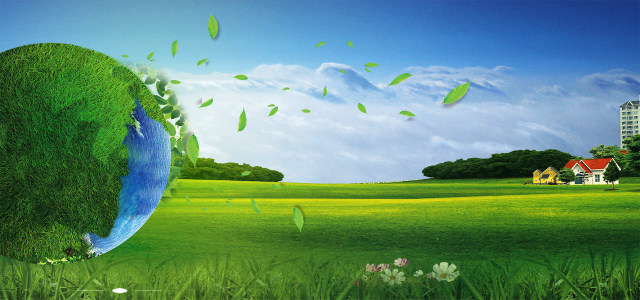 绿色地球低碳节能环保海报背景