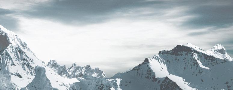大气雪山背景高清背景图片素材下载