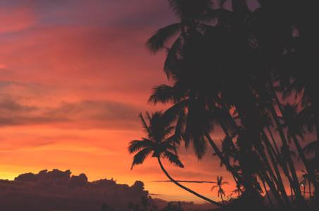 海边晚霞风景