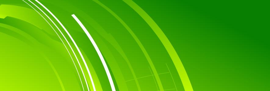 清新绿色banner背景