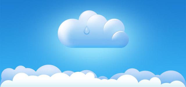 卡通云朵蓝天背景