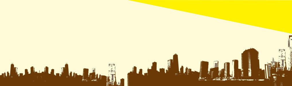 电商城市剪影背景banner高清背景图片素材下载