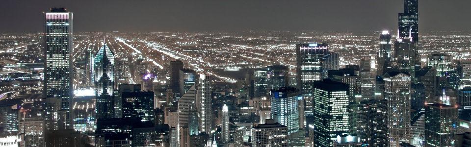 璀璨都市灯光夜景海报背景