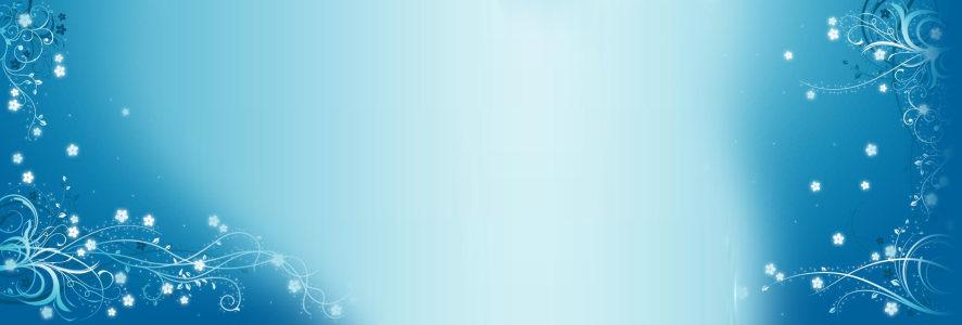 蓝色中国风花纹背景banner高清背景图片素材下载