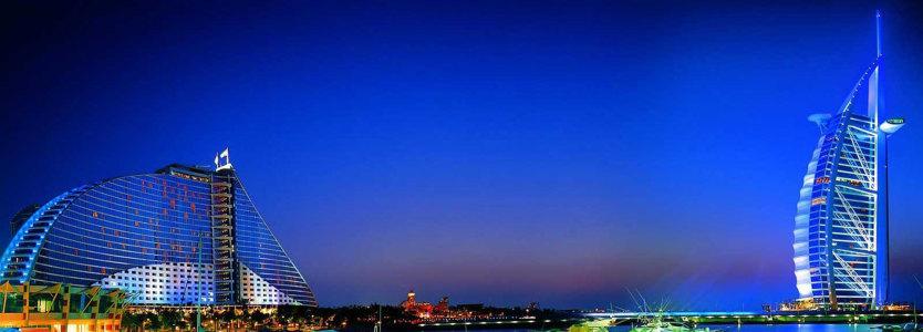 迪拜建筑banner创意设计高清背景图片素材下载