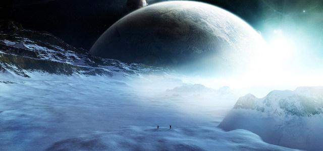 大气星球山脉雪山