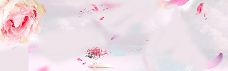 粉色花朵背景