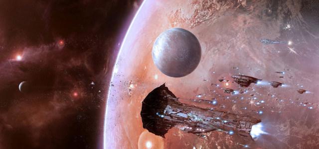 大气科幻星球星空背景